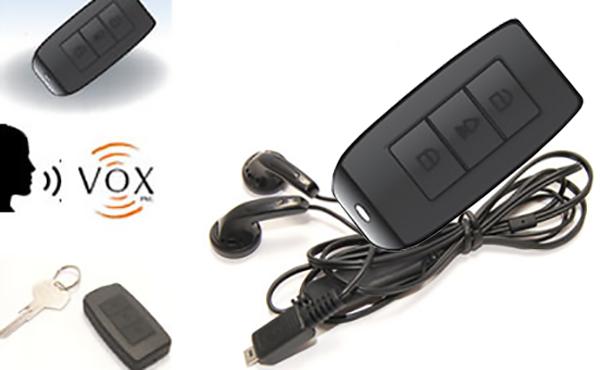 Autó távirányítóba rejtett VOX diktafon
